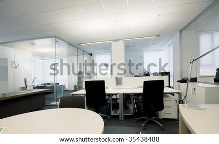 modern office interior ( photo ) - stock photo