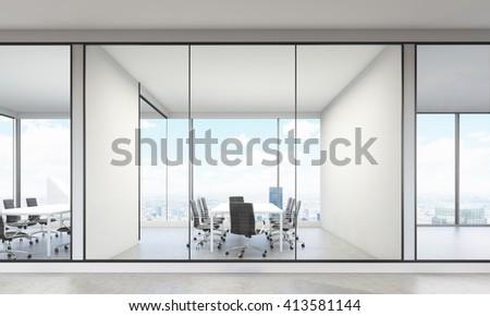 modern office interior new york city stock illustration 413581144
