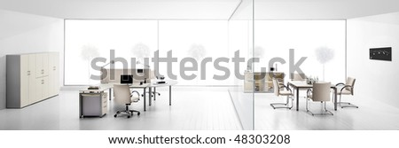 modern office interiors - stock photo