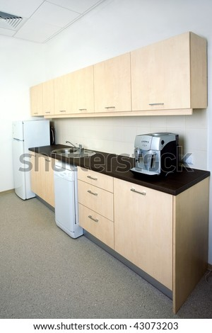 Modern office kitchen - stock photo