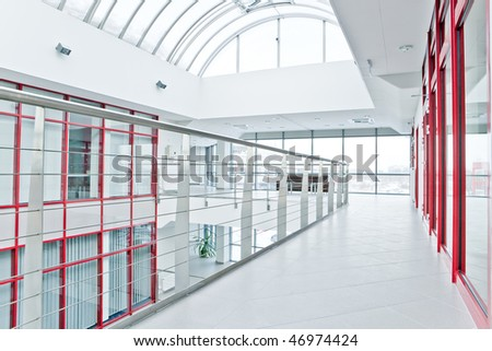 Modern office lobby - stock photo