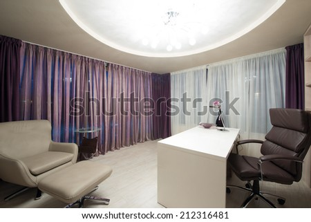 Modern office room interior