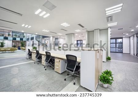 modern office room interior - stock photo