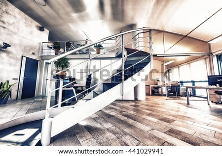 Modern Office. Success and corporate concept. - stock photo