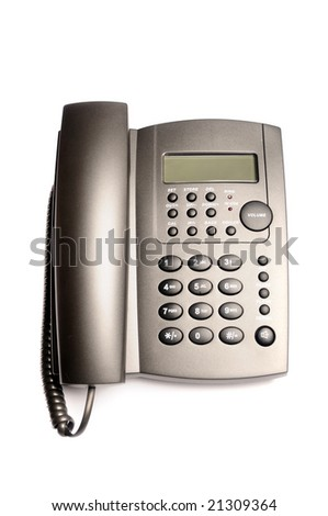 modern office telephone isolated on a white background