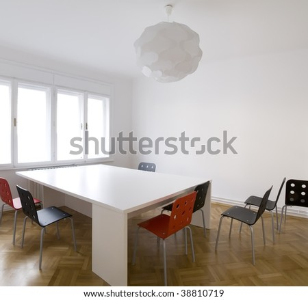 modern office with table and chairs - stock photo