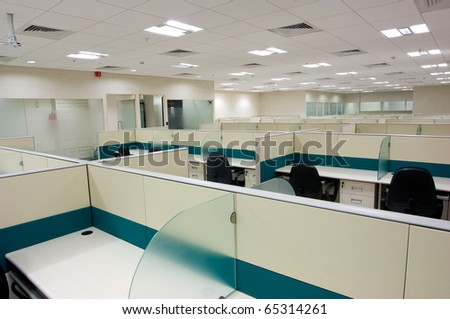 modern office work place - stock photo