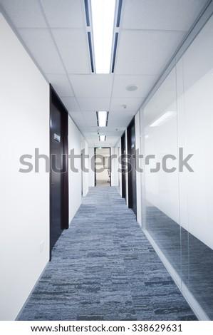 Modern offices, corridors - stock photo