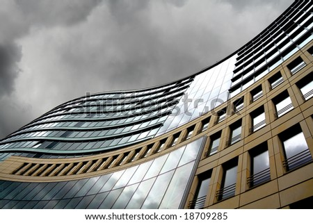 Modern offices in Frankfurt, financial capital of Europe - stock photo