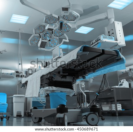 Modern operating room in hospital