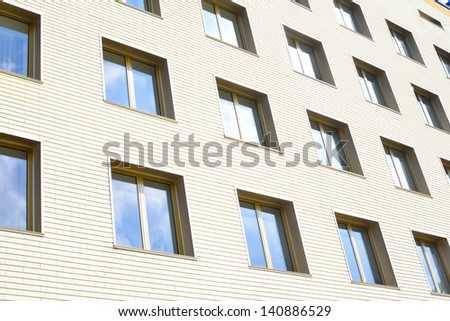modern pane of business building - stock photo