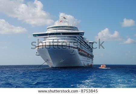 Modern passenger liner - stock photo