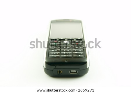 Modern PDA-like phone isolated on a white background