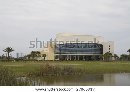 modern performing arts center for theater near the old downtown portion of Daytona Beach, Florida - stock photo