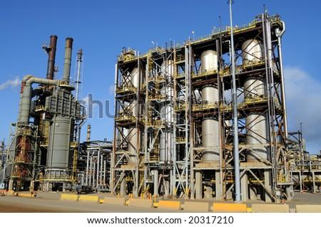 Modern petrochemical plant - stock photo