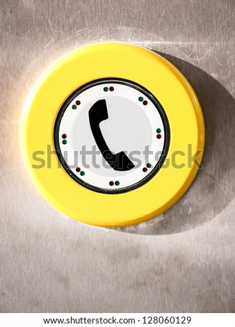 modern phone button at a phone cell - stock photo
