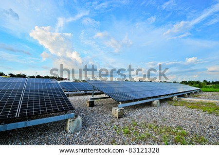 Modern Photovoltaic cells in a solar panel