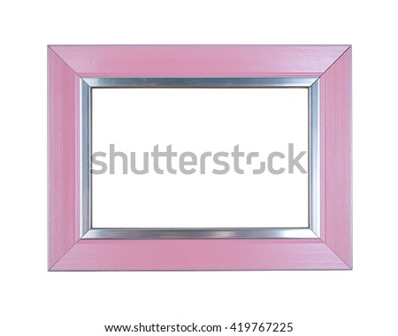 Modern picture frame isolated on white background. - stock photo