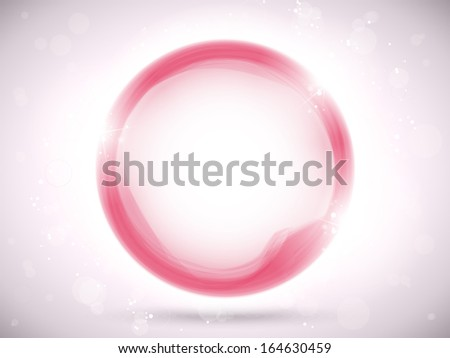 Modern Pink Circle Glowing Effects - stock photo
