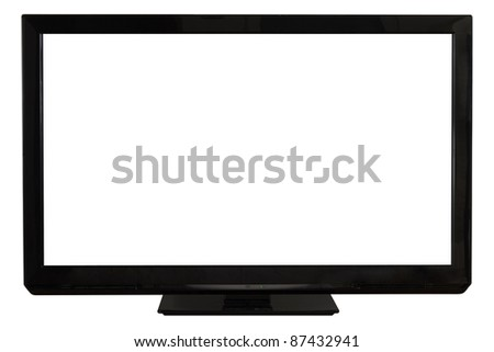 Modern plasma/LCD Television - stock photo