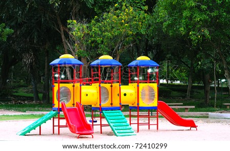 Modern playground for children - stock photo