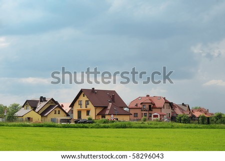 modern polish homes outside of the city