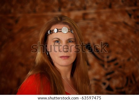 Modern practitioner of wicca or witchcraft - stock photo