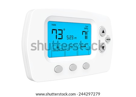 Modern Programming Thermostat on a white background