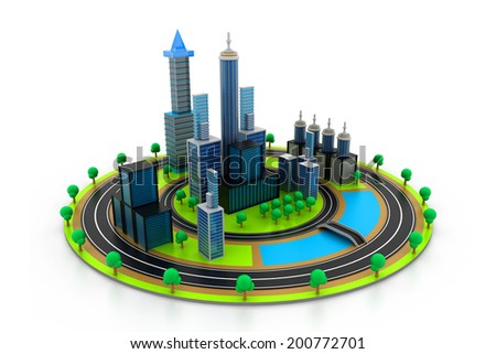 Modern project of city