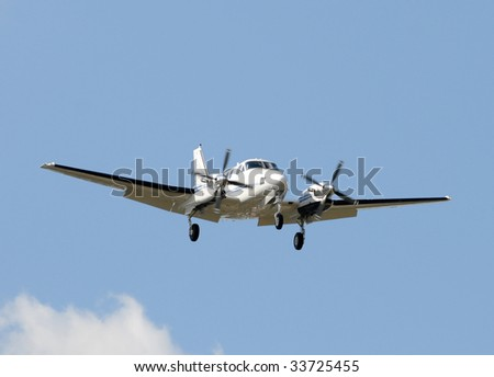 Modern propeller airplane for private charters
