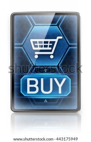 Modern purchasing (3D illustration) - stock photo