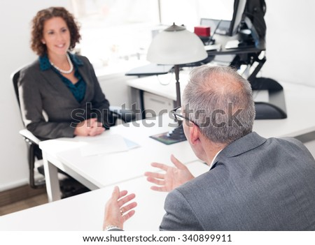 Modern real office, real business people, Media industry. - stock photo
