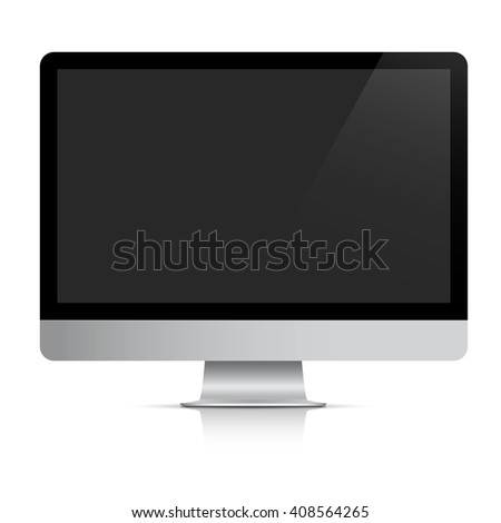 Modern realistic computer monitor