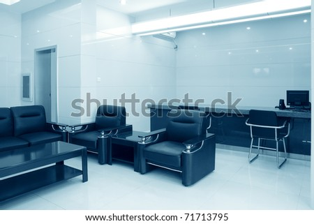 modern reception room in a bank - stock photo