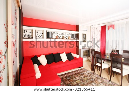 Red Living Room Stock Images RoyaltyFree Images Vectors