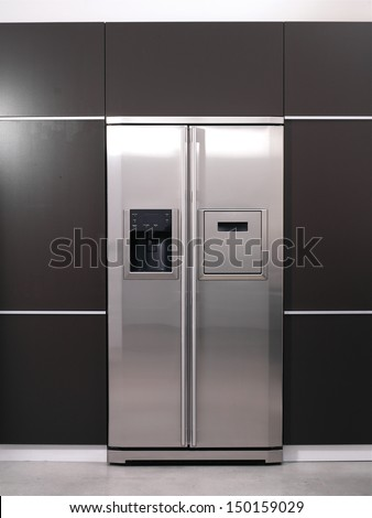 Modern refrigerator  - stock photo