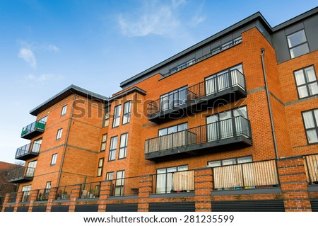 Modern residential building. - stock photo