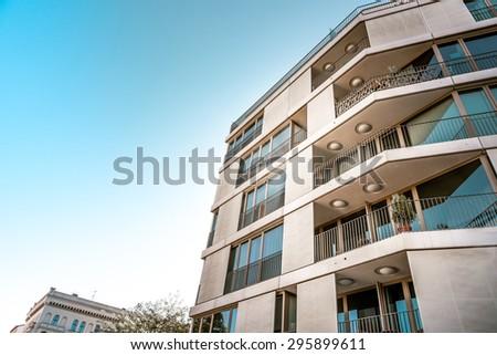 modern residential house in Berlin - stock photo