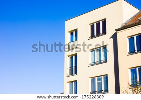 Modern Residential House in Potsdam, Germany - stock photo
