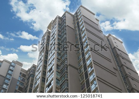 modern residential of shanghai,china - stock photo