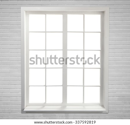 Modern residential window - stock photo