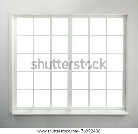 Modern residential window (includes clipping path) - stock photo