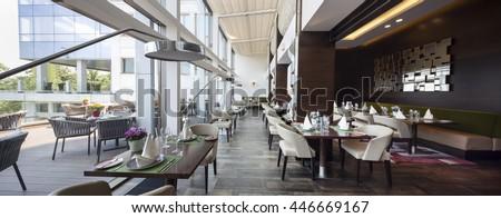modern restaurant interior part of a hotel