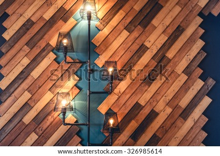 Modern Restaurant With Rustic Decorative Elements Interior Design Details Lamps And Bulb Lights