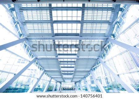 modern roof - stock photo