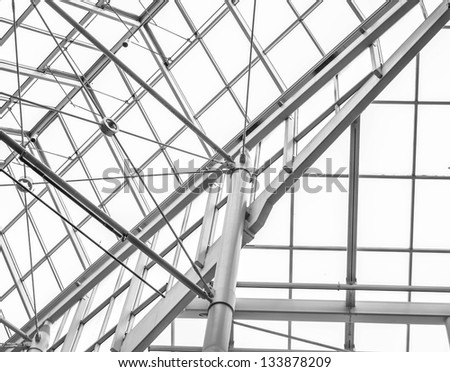 Modern roof interior - stock photo