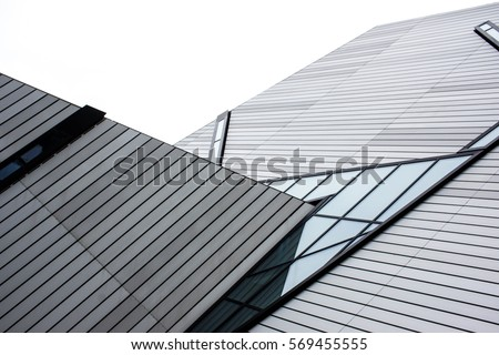 modern roof with angular architectural design