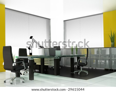 Modern room for meetings 3d render - stock photo