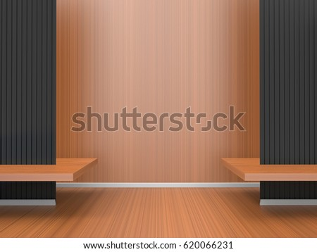 Modern Room home office Composition Art Exhibition Contemporary clean Space / 3d rendering