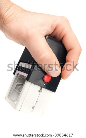 modern rubber stamp - stock photo